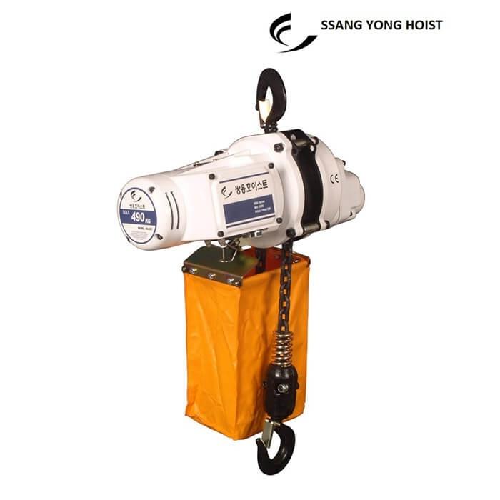 Pa lăng xích điện 1 pha 500kg Ssangyong