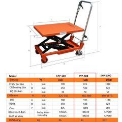 Xe nâng mặt bàn 500kg Ssangyong