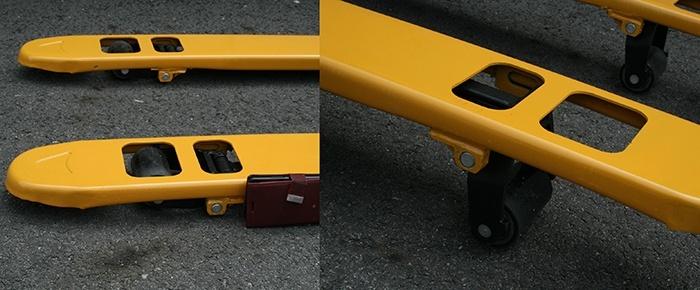 Xe nâng tay 2 tấn càng siêu ngắn Ssangyong
